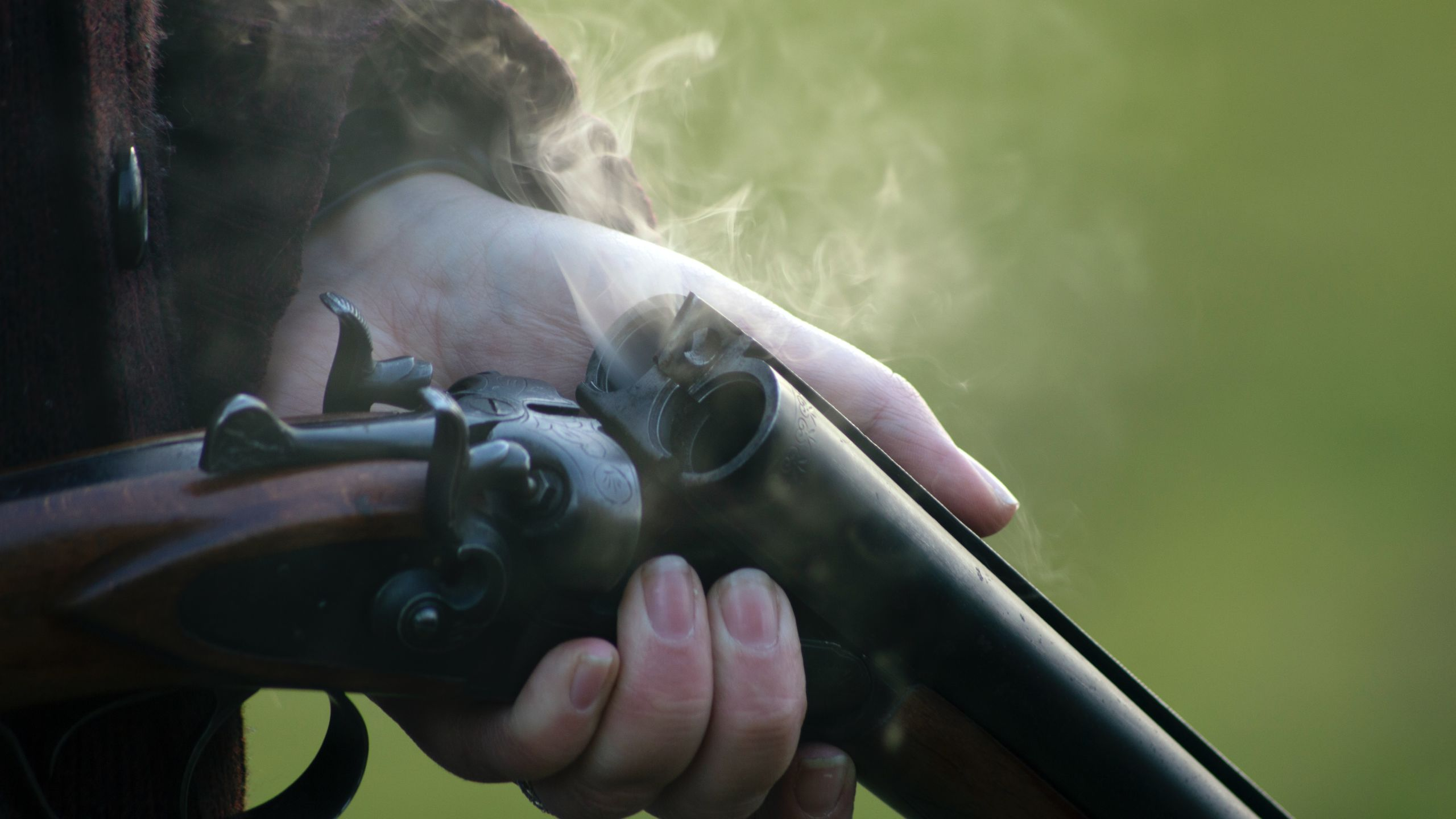 Image of a smoking shotgun